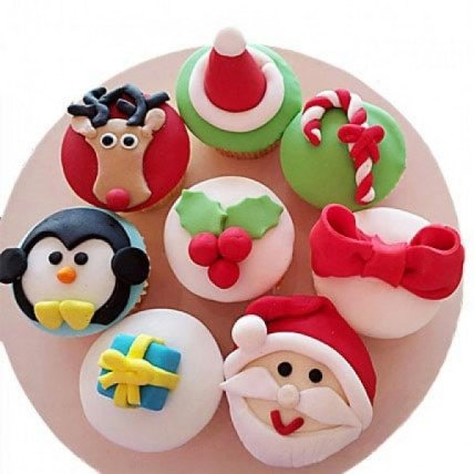 Christmas Special Cupcakes-set of 8