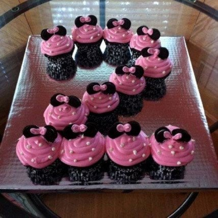 Cute Minnie Mouse Cupcakes-set of 12
