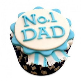 Dad Designer Cupcakes-set of 6