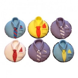 Designer Cupcakes For Dad-set of 6