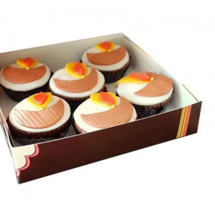 Diya Cupcakes-set of 6