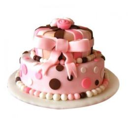 Elegant Baby Pink Cake - 4 KG