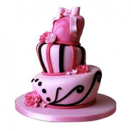 Elegant Pink Wedding Cake - 5 KG