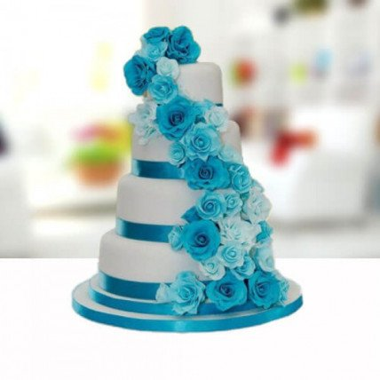 Flower Shower Wedding Cake - 6 KG