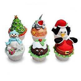 Funny Christmas Cupcakess-set of 6