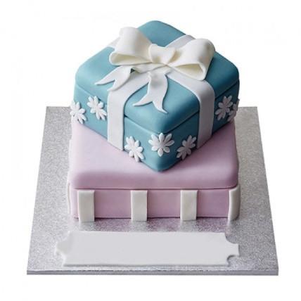 Gift Box Fondant Cake - 4 KG
