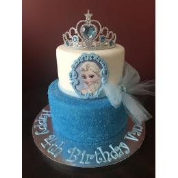 Glittery Frozen Elsa Cake-4 Kg