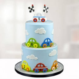 Kids Twolayer Fondant Cake - 2 KG