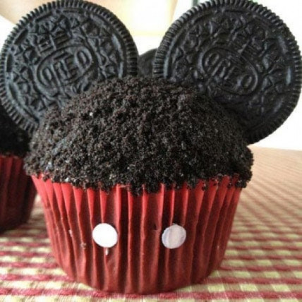 Mickey Mouse In A Cupcake-set of 6