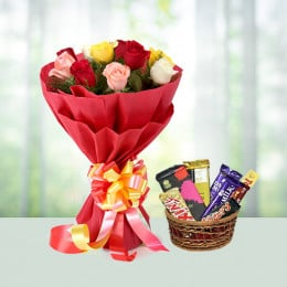 Mix Roses And Chocolate