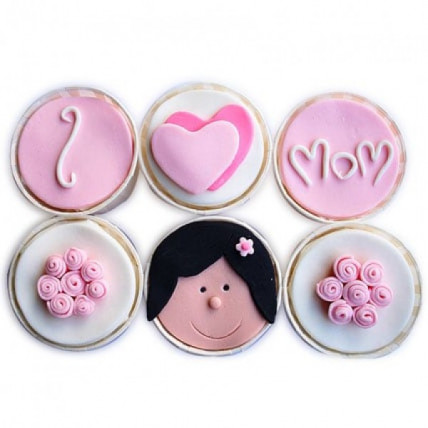 Mothers Day Pink Cupcakes-set of 6