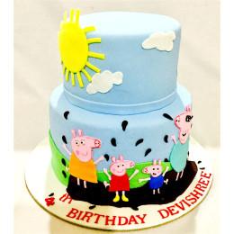 Peppa Pig Family Cake-4 Kg