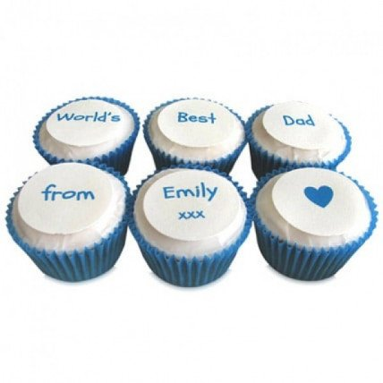 Personalized Message Cupcakes-set of 6