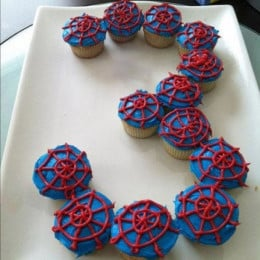 Platter Of Spiderman Cupcakes-set of 12