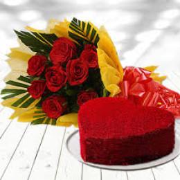 Red Velvet And Roses