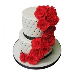 Rose Fondant Cake - 4 KG