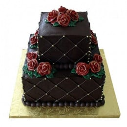 Rose N Truffle 2 Tier Cake - 4 KG