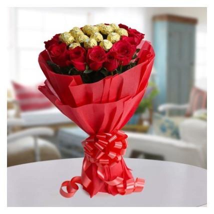 Roses and Ferrero Bunch