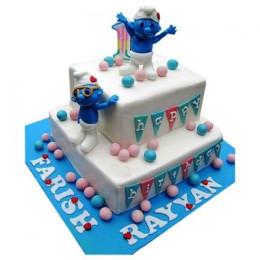Smurfs Birthday Cake - 5 KG