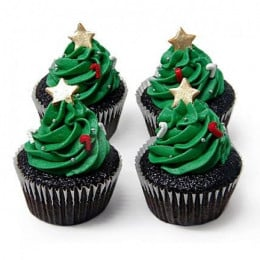 Special Christmas Tree Cupcakes-set of 6