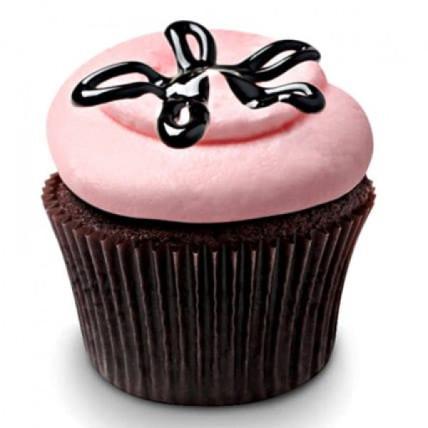 Strawberry Lava Fudge Cupcakes-set of 6