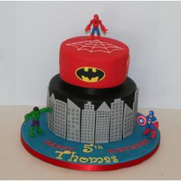 Superhero Theme Cake-4 Kg