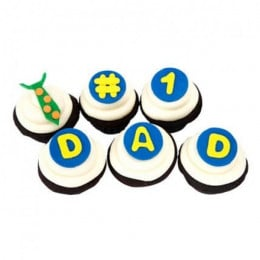 The Dad Cupcakes-set of 6