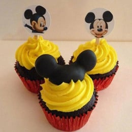 Trio Mickey Mouse Cupcakes-set of 6