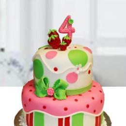 Two Layer Birthday Cake - 3 KG