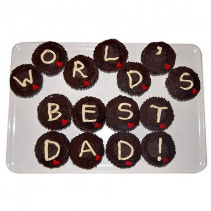 Worlds Best Dad Cupcakes-set of 15
