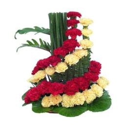 Spiral Flower Arrangement