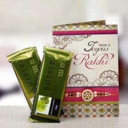 Gold Rakhi Combo