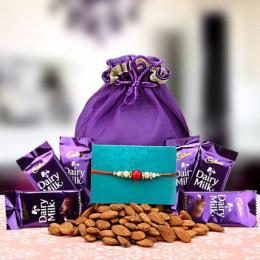 Almond  N Chocolate Potli