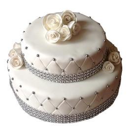 2 Tier Floral Fondant Cake - 4 KG