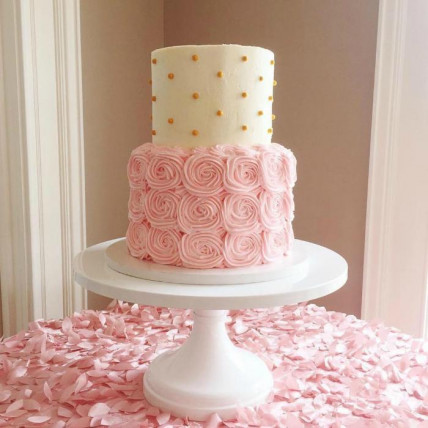 The Swirly Rosette Cake-3 Kg