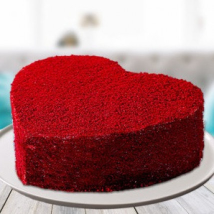 Velvety Heart Cake-500 Gms