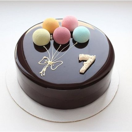 Colorful Balloons Cake-500 Gms