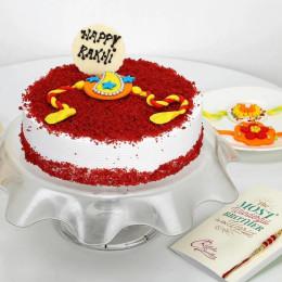 Red Velvet Rakhi Cake-500 Gms