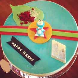 Doremon Rakhi Cake-1 Kg