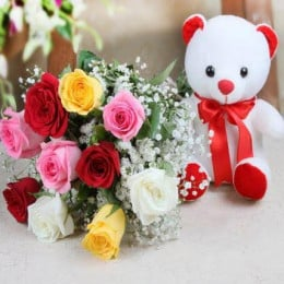 Mix Roses N Teddy