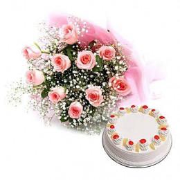 Pineapple Cake N Roses