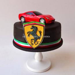 Astonishing Red Ferrari Cake 1 Kg Funny Birthday Cards Online Aboleapandamsfinfo
