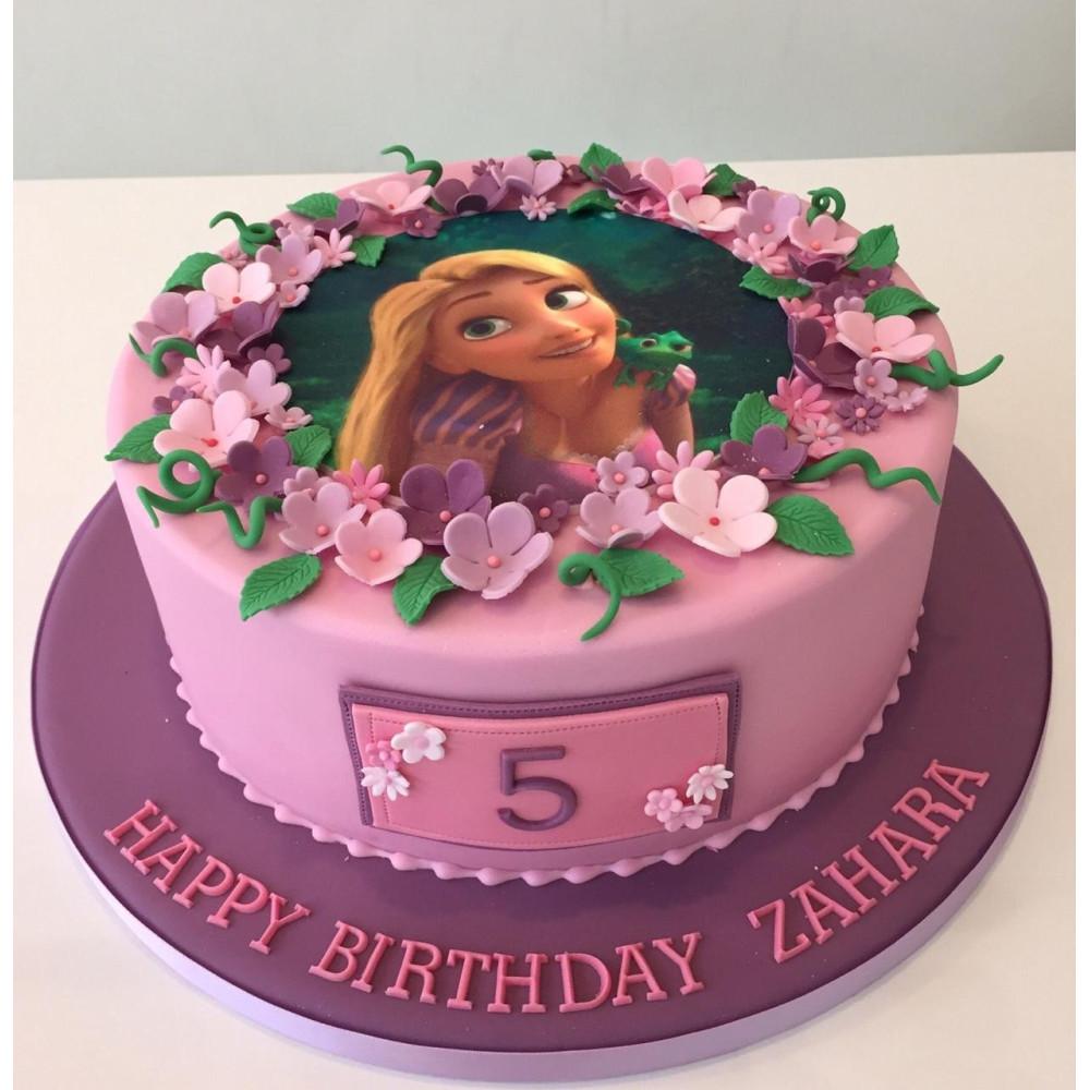 Remarkable Disney Princess Floral Cake 2 Kg Attractive Rapunzel Floral Cake Funny Birthday Cards Online Hetedamsfinfo