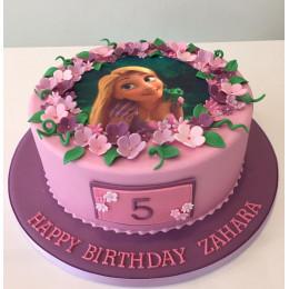 Disney Rapunzel Floral Cake-1 Kg