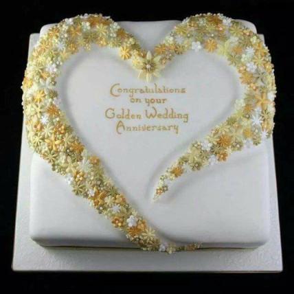 Golden Anniversary Cake-1.5 Kg