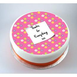 Thank U Note Cake-500 Gms