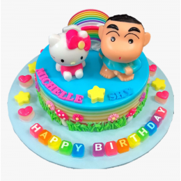 Shinchan n Kitty Cake-2 Kg