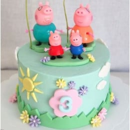 Peppa Family Cake-1.5 Kg