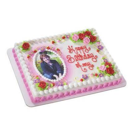 Floral Photo Cake-1 Kg