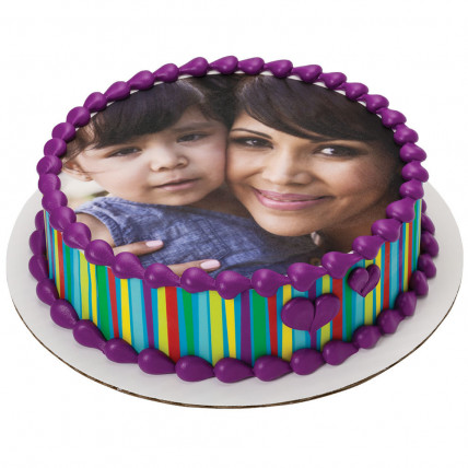 Mommy Photo Cake-500 Gms
